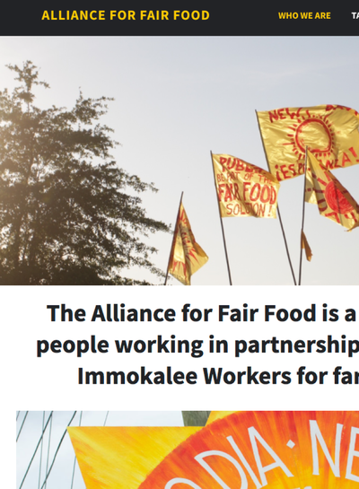 Preview Image: Alliance for Fair Food