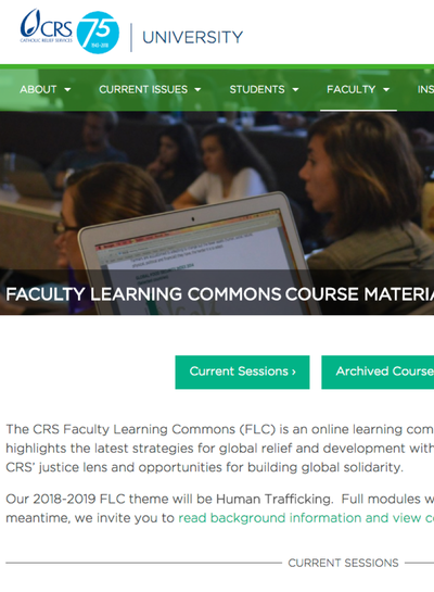 Preview Image: CRS University: Curriculum Resources
