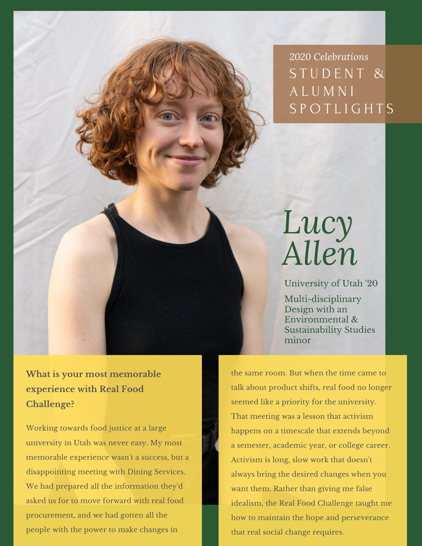 Lucy A - one pager