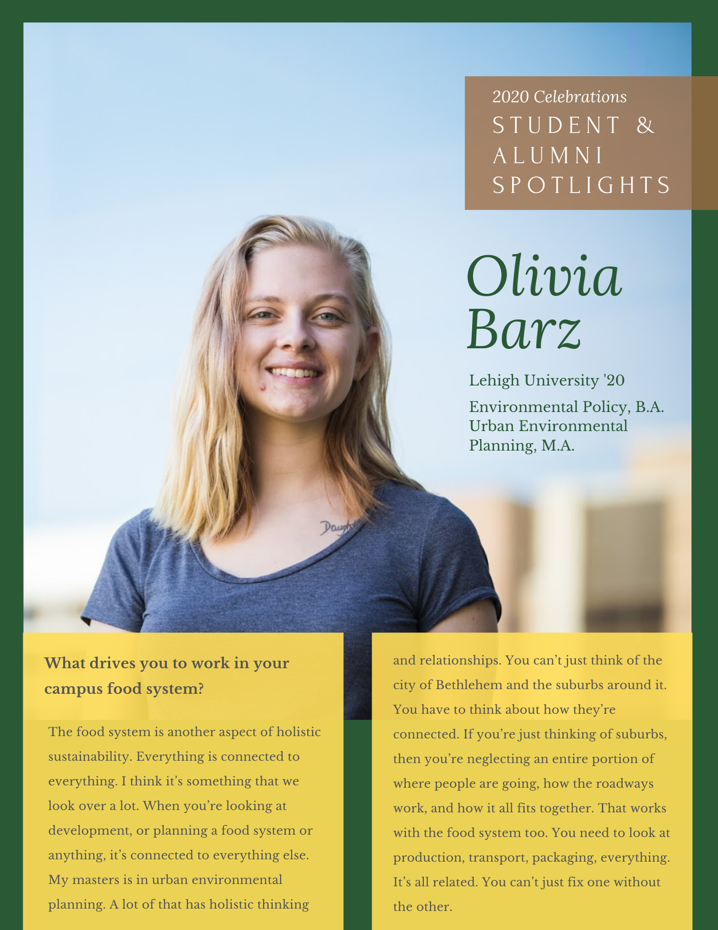 Olivia B. - one-pager
