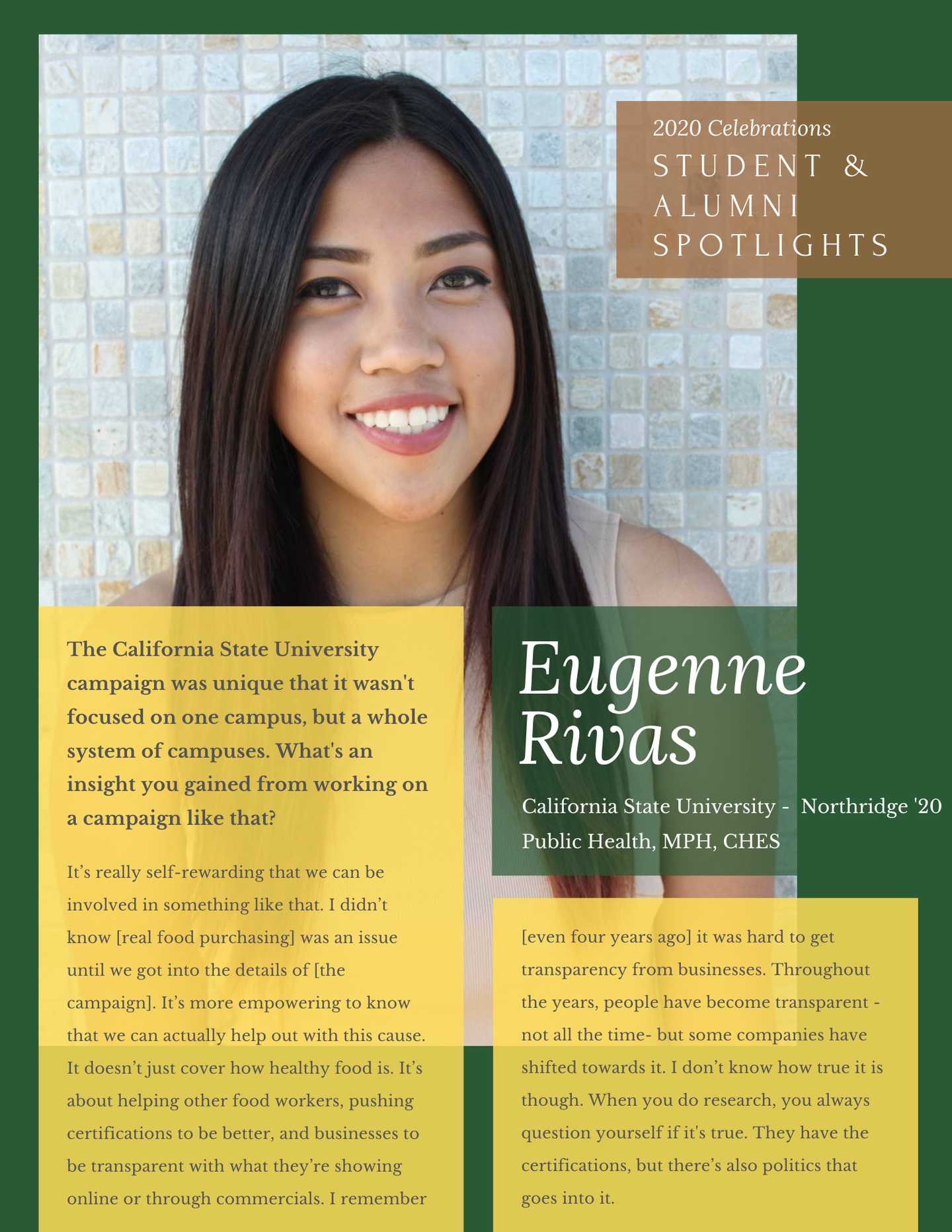 Eugenne R. - one-pager