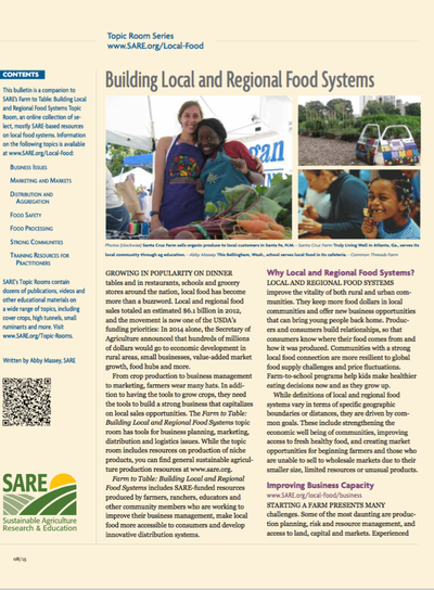 Preview Image: Building Local Food Programs on College Campuses
