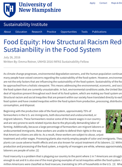 Preview Image: Structural Racism in the Food Systems