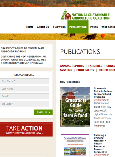 Preview Image: Sustainable Agriculture Coalition Publications